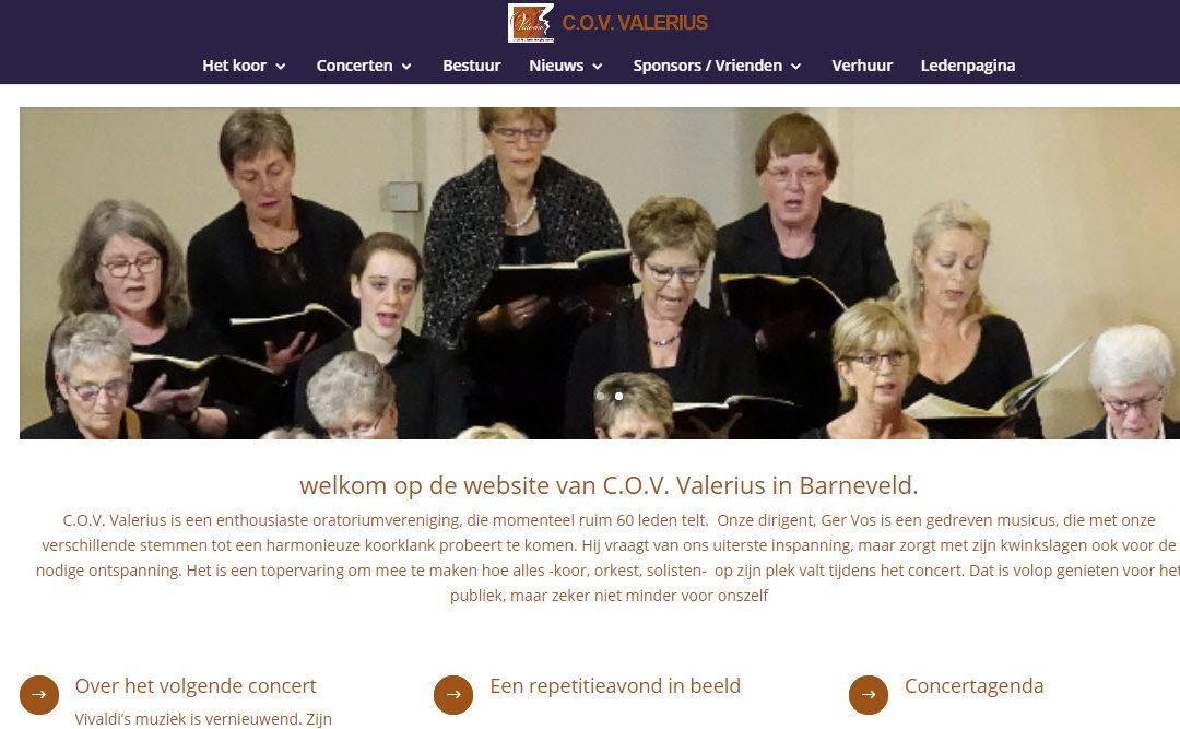 Nieuwe website Valerius