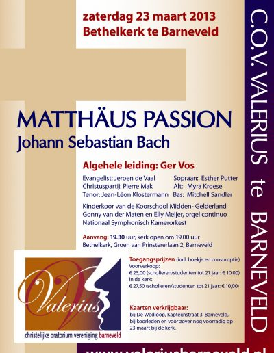 2013 poster Bach Mattheus Passion-1
