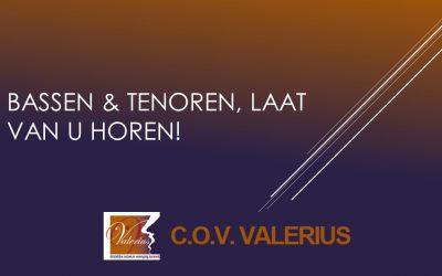 Bassen & Tenoren, laat van u horen!